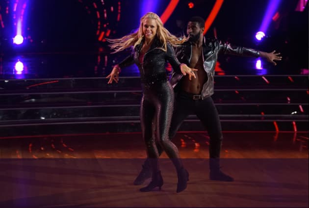 Jennie Finch Daigle  in Leather - Dancing With the Stars: Athletes Season 26 Episode 2