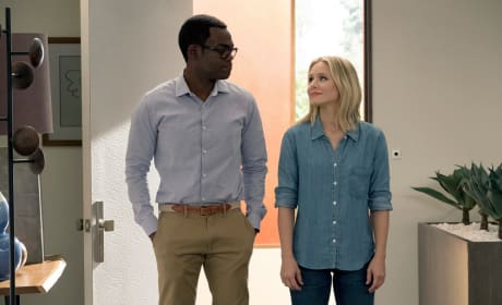 Chidi and Eleanor in the House - The Good Place Season 2 Episode 10