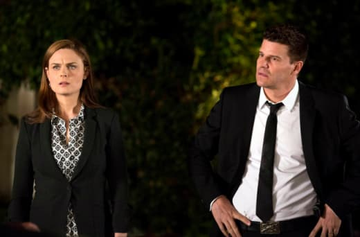 Brennan and Booth Look Mystified