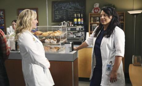 Callie with Arizona - Grey's Anatomy Season 11 Episode 1