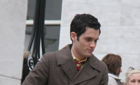 Penn on the Gossip Girl Set