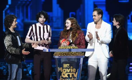 Stranger Things Cast Accept Award