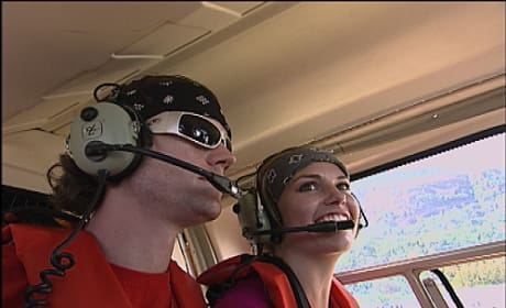 Brent and Caite In A helicopter