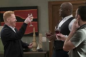 Mitch toasts new job - Modern Family Season 9 Episode 14