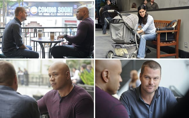 Callen and sam at the mall