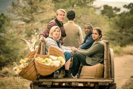 Wagon Ride Close Up - Doctor Who Season 11 Episode 6