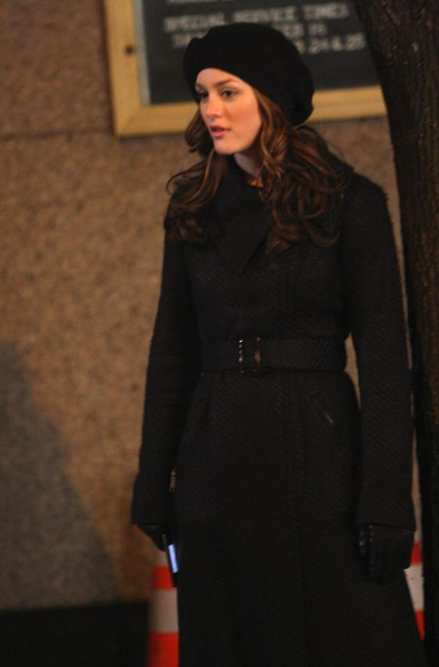 Leighton on the Set