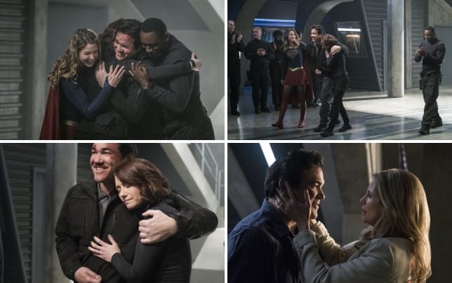 Group hug supergirl season 2 episode 14