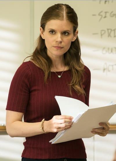 Claire front of the class - A Teacher Season 1 Episode 4