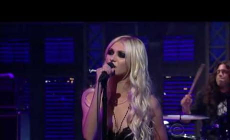 Taylor Momsen on Letterman