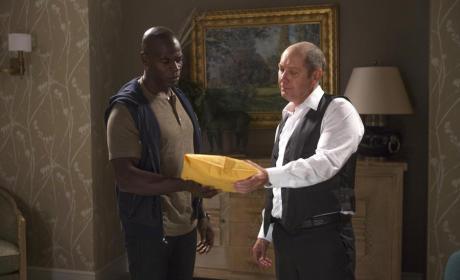 Red Meets Dembe - The Blacklist Season 2 Episode 1