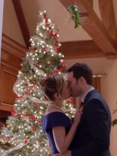 Kissing Under the Mistletoe - Mistletoe & Menorahs